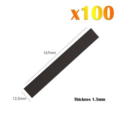 100 x Magnetic Rectangular Strip Rubber Flexible Strong Magnets For Fridge Craft