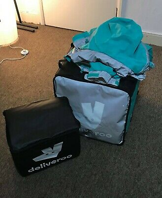 Deliveroo full kit (jacket L, large insulated backpack, smaller insulated bag)