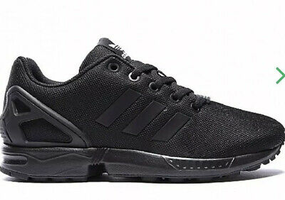 DHW* adidas Originals Junior ZX Flux Trainer | Black Uk 7