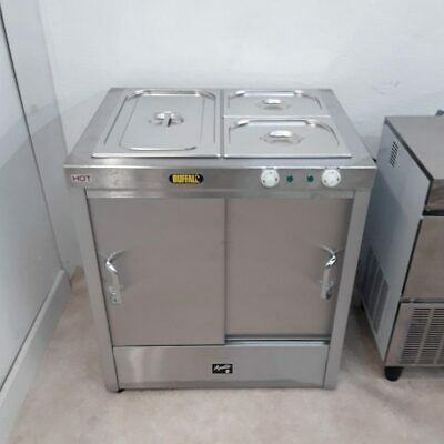 Commercial Stainless Hot Cupboard Bain Marie Carvery Buffalo HCBA2