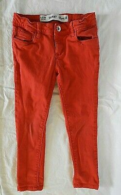 Denim CO. Girls Skinny Red Jeans Age 5-6 Years