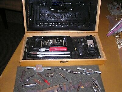 Vintage X-Acto Exacto Deluxe Knife Tool Set In Wood Box Not Complete