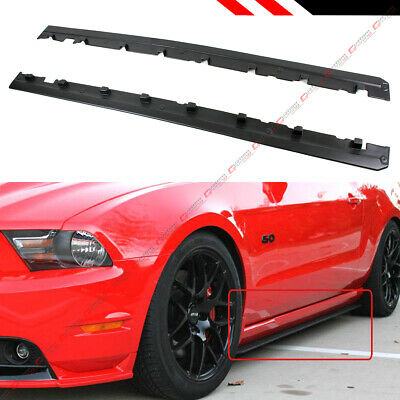 For 2010-2014 Ford Mustang R Style Rocker Panel Side Skirt Extension Splitter