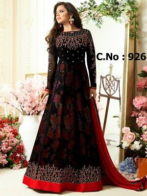 Indian Bridal Party Wear Heavy Pakistani Salwar Kameez Bollywood Wedding Gown