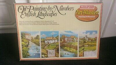 Waddingtons Oil Painting By Numbers English Landscapes Artmasters