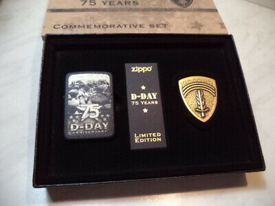 Zippo  75th Anniversary D-Day Lighter Set, Limited Edition, 10000  new n 5513