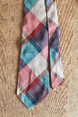 "VTG 30s/40s Wool Tie Unlined Lindy Hop WWII Jazz Gangster British 47.5"" x 3.75"""