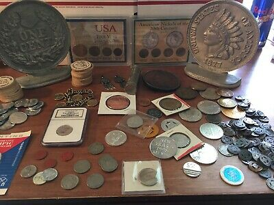 Junk Drawer Lot Random Coin Lot This That And The Other Thing. NGC, Tokens, Roll