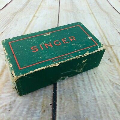 Vintage Singer Sewing Machine Attachments in Original Green Box 48675 USA