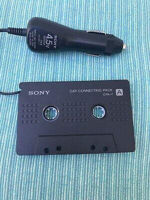 Sony Walkman Connecting Pack CPA-7 4.5V Car Charger Cassette to CD MP3 Works