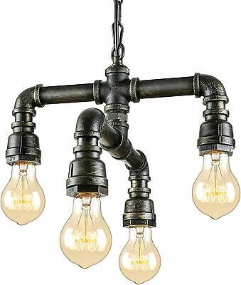 Antique Industrial Wrought Iron Pendant Chandelier Lighting Vintage Pipe (M7)