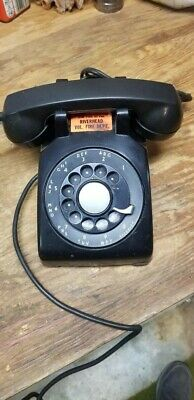 Vintage, MINT CONDITION, General Electric Black Rotary Phone, 1954