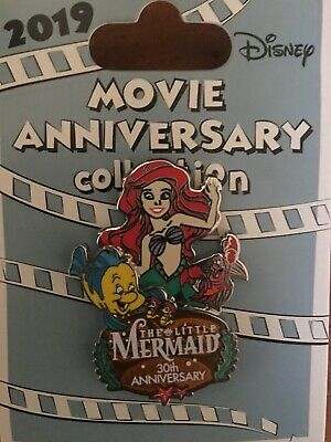 Disney Cast Exclusive Little Mermaid Movie 30th Anniversary Pin Ariel