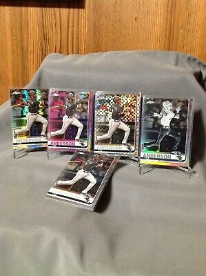TIM  ANDERSON  2019 Topps Chrome Lot (5) Negative , Pink , Xfractor , Prism