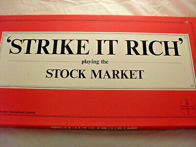 STRIKE IT RICH Playing the Stock Market - BOARD GAME - Lamplight Games