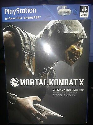 PlayStation Mortal Kombat X WIRED Fight Pad (for PS3 & PS4) NEW