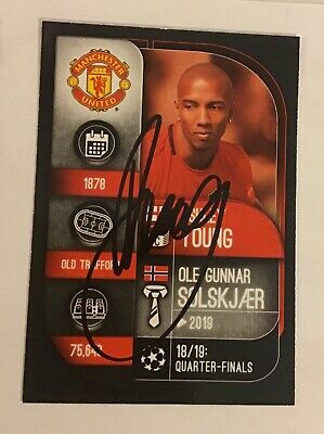 Ashley Young Match Attax 19-20 Card Signed Manchester United