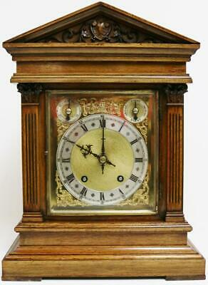 Antique Walnut 8 Day 1/4 Chiming Ting Tang Musical Chime W&H Bracket Clock
