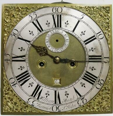 Rare Antique Early Brass Dial 8 Day 5 Pillar Repeating Longcase Clock Movement