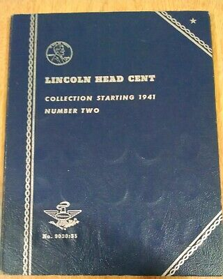 Lincoln Cent Complete Set 64 Coins In Whitman Album 1941 - 1965
