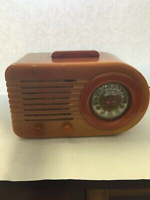 AUTHENTIC 1940's FADA Bullet Tube Model 1000 AM Radio Does Not Work