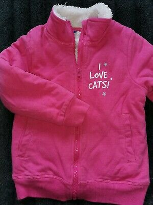 Lupilu Girls Cosy Fur Lined Pink Jacket  Age 4-6