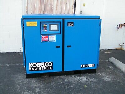 Kobelco KNW O-B/H 60 hp rotary screw air compressor oil free two stage