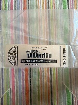 Once Upon A Time In Hollywood Tarantino silver ticket from the Cinerama Dome