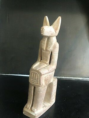 Rare Large Ancient Egyptian Seated Sekhmet 1403-1365 BC