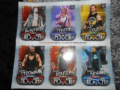 6 Topps  Wwe Slam Attax  Superstars And Legends  Trading  Cards .   ..
