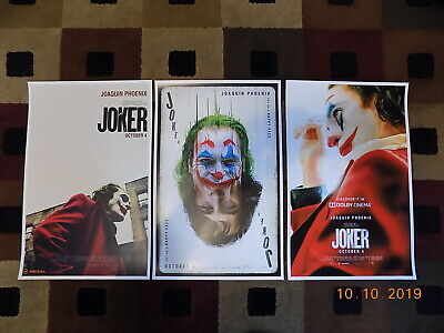 "Joker ( 11"" X 17"" ) Movie Collector's Poster Prints - ( Set of 3 )"