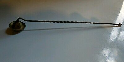 "Vintage Solid Brass Candle Snuffer 12"" Long"