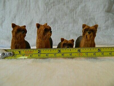 Yorkshire Terrier Yorkie Dog 4 piece grouping