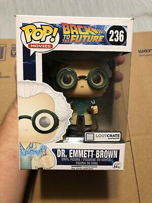 Funko POP! Dr. Emmett Brown #236 Loot Crate Exclusive Back to the Future Figure