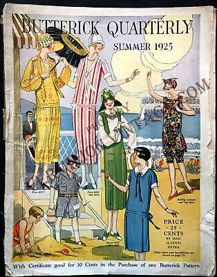 1925 Butterick Quarterly Pattern Catalog for Summer, 1920's Patterns, Swim Suits
