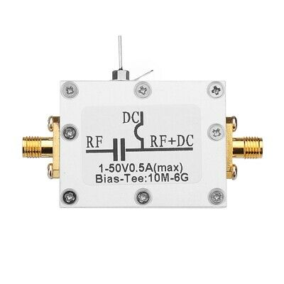RF Splitter Bias Coaxial Feed Bias Tee 10MHz-6GHz Low Insertion Loss Wideband Am