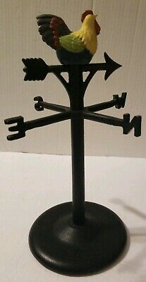 Cast Iron Rooster Free Standing Weather Vane Tabletop Decoration