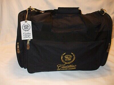 Vintage Cadillac Luggage Duffel Carry on Bag, Multi Pocket, Tag
