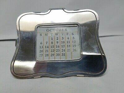 Antique Kirk & Son Sterling Silver Small Picture Frame Calendar Holder Free S&H
