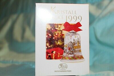 Annual Crystal Christmas Hutschenreuther - Ornament Crystal Bell 1999