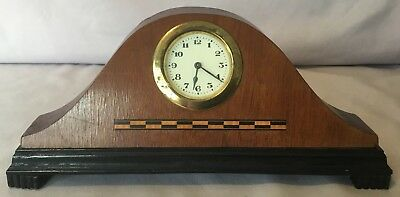 Tambour Small Wooden Mantel Clock
