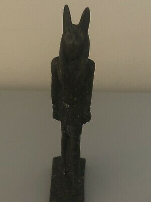Rare Large Ancient Egyptian Granite Anubis Statue(c.3100-c.2890 BC)
