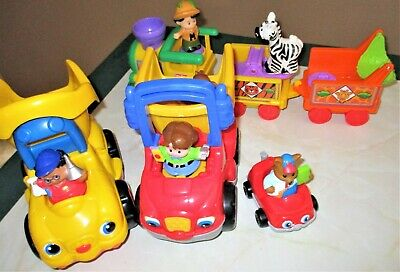 Fisher Price Little People Lot: Trucks, Car, Train Set, Animals & Action Figures