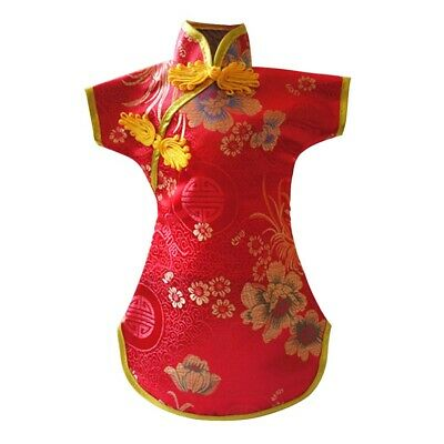 Chinese Style Home Decorative Anti Dust Wine Bottle Cover Tang Dress Embroidery