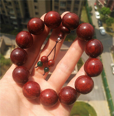 genuine natural india red sandalwood zitan wood bracelet worry beads mala rosary