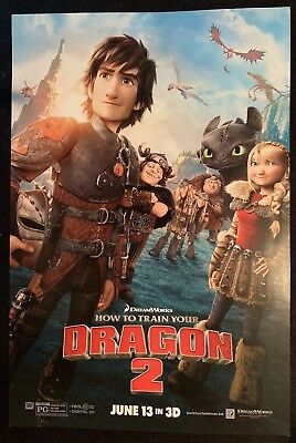 How To Train Your Dragon 2 Original Movie Promo 4 Poster Set 13x20 HTTYD New