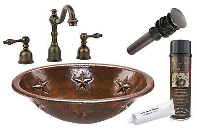 Premier Copper Products - BSP2_LO19RSTDB Bathroom Sink, Faucet and Accessories