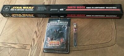 Master Replicas Star Wars Darth Vader Force Fx Lightsaber & Maul Figure + Brush!