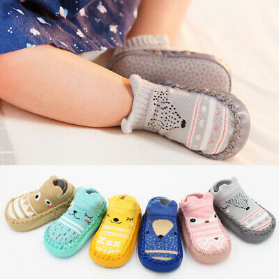 Newborn Baby Girl Boy Kids Toddler Infant Anti Slip Shoes Slipper Floor Socks