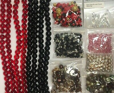 Lot of Approx. 378g Mixed Beads for Jewellery Making and Craft